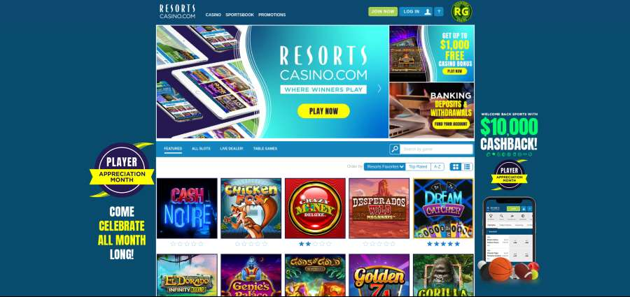 resorts casino screenshot