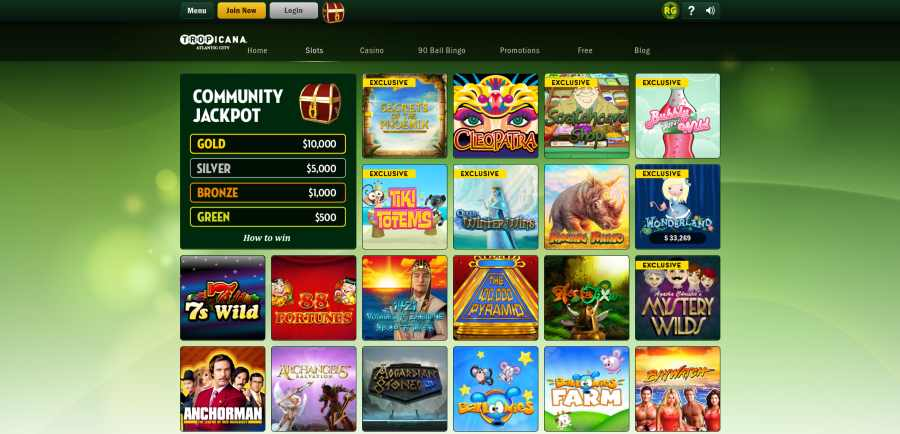 tropicana casino screenshot games